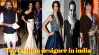 Top 5 Indian fashion designers