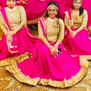 Rajasthani Women Wear Ghaghra, Choli and Odhani (Lugdi)
