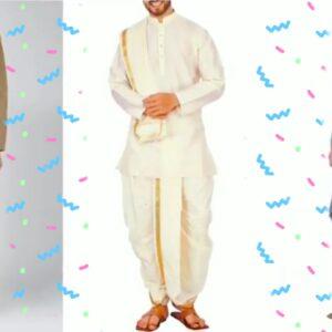 Dhoti and kurta in men's dresses of Rajasthan