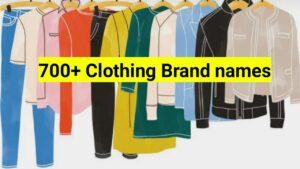 Clothing brand names